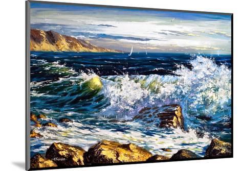 Storm Waves On Seacoast-balaikin2009-Mounted Art Print