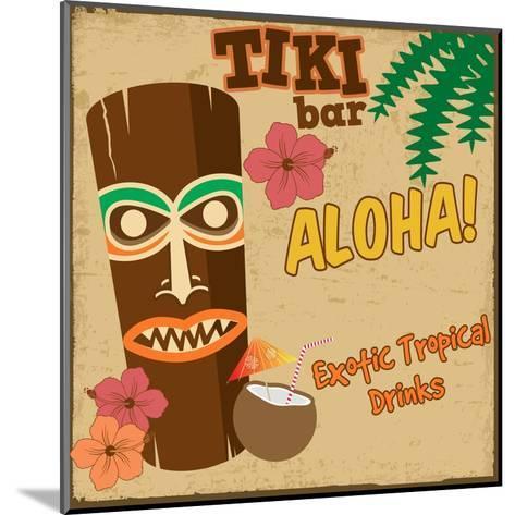Tiki Bar Vintage Poster-radubalint-Mounted Art Print