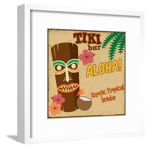 Tiki Bar Vintage Poster-radubalint-Framed Art Print