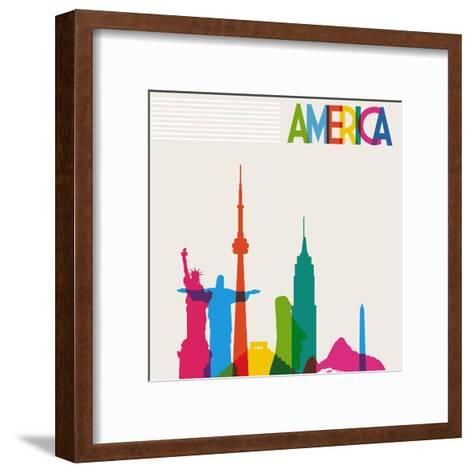 Monument America-cienpies-Framed Art Print