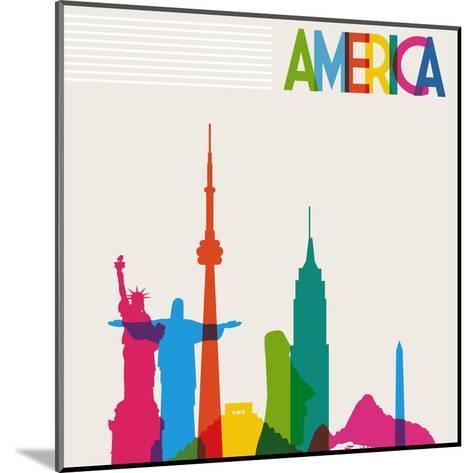 Monument America-cienpies-Mounted Art Print