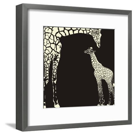 Inverse Giraffe Animal Camouflage-Gepard-Framed Art Print