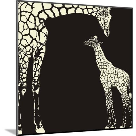 Inverse Giraffe Animal Camouflage-Gepard-Mounted Art Print