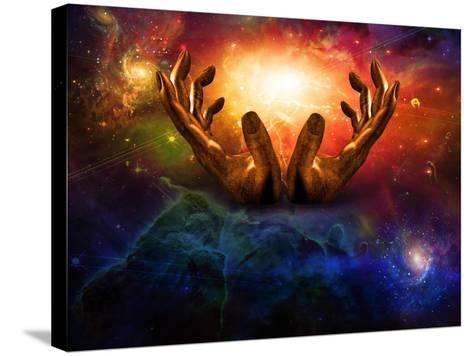 High Resolution Hands And Light-rolffimages-Stretched Canvas Print