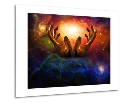High Resolution Hands And Light-rolffimages-Metal Print