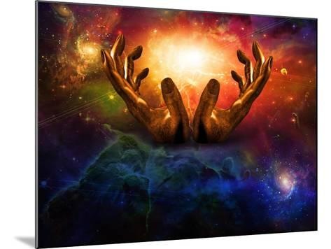High Resolution Hands And Light-rolffimages-Mounted Art Print