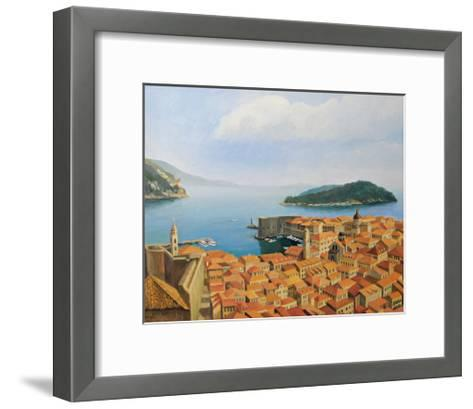 View From The Top Of The World-kirilstanchev-Framed Art Print