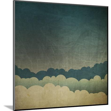 Vintage Grunge Sky Background-pashabo-Mounted Art Print