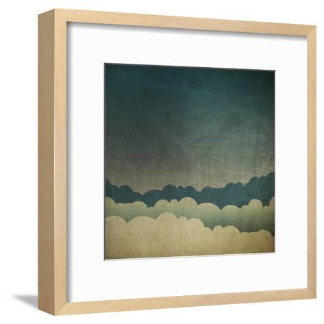Vintage Grunge Sky Background-pashabo-Framed Art Print