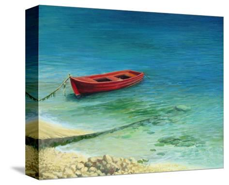 Fishing Boat In Island Corfu-kirilstanchev-Stretched Canvas Print