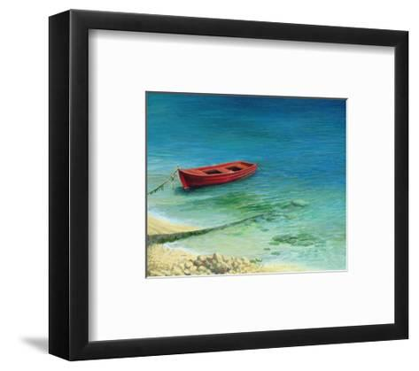 Fishing Boat In Island Corfu-kirilstanchev-Framed Art Print