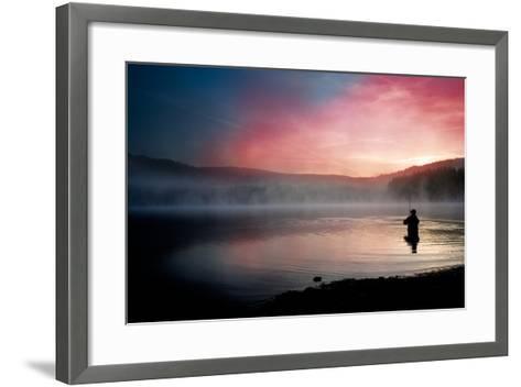 Fishing Early In The Morning-Val Thoermer-Framed Art Print