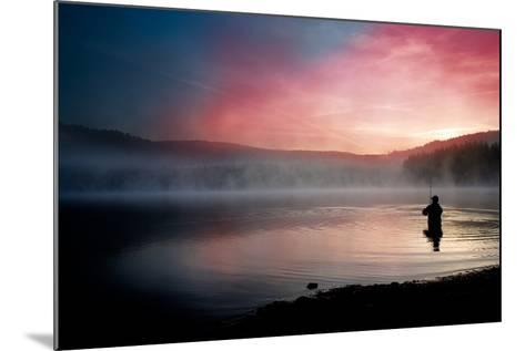 Fishing Early In The Morning-Val Thoermer-Mounted Art Print