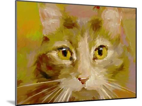 Orange Cat - Digital Oil Painting-anatomyofrockthe-Mounted Art Print