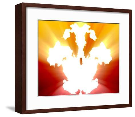 Mental Health Inkblot Background-kgtoh-Framed Art Print