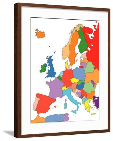 Europe With Editable Countries-Bruce Jones-Framed Art Print