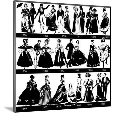 1800-1900 Fashion Silhouettes-Cicero96-Mounted Art Print