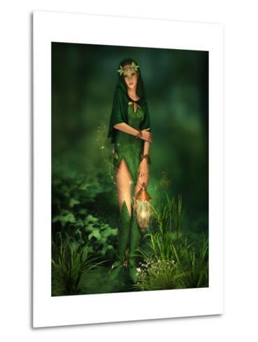 Little Light In The Deep Forest-Atelier Sommerland-Metal Print