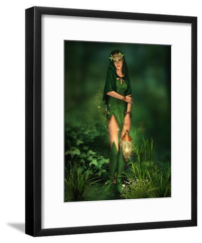 Little Light In The Deep Forest-Atelier Sommerland-Framed Art Print