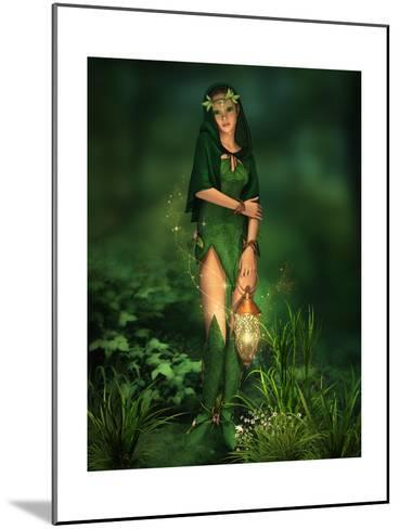 Little Light In The Deep Forest-Atelier Sommerland-Mounted Art Print