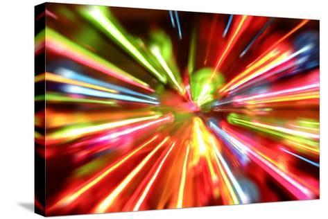 Multiple Lights Blur Background-STILLFX-Stretched Canvas Print