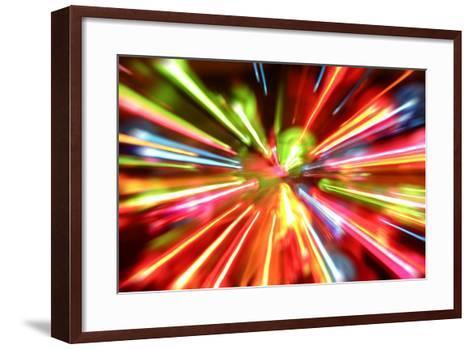 Multiple Lights Blur Background-STILLFX-Framed Art Print