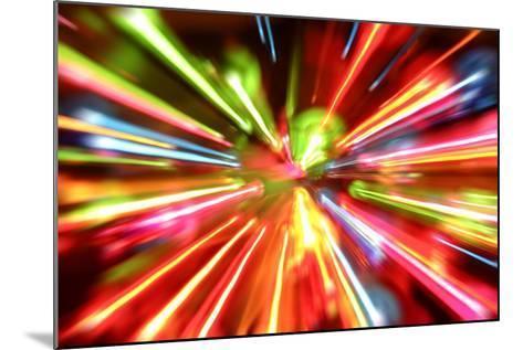 Multiple Lights Blur Background-STILLFX-Mounted Art Print