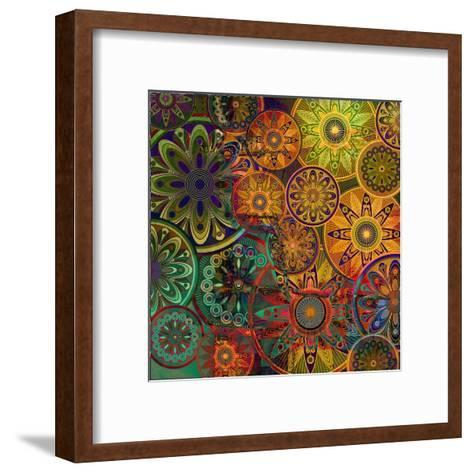 Art Vintage Floral Background-Irina QQQ-Framed Art Print