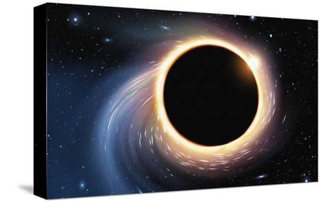 Black Hole - Digital Painting-anatomyofrockthe-Stretched Canvas Print
