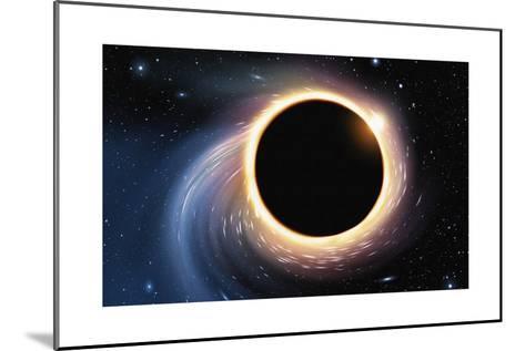 Black Hole - Digital Painting-anatomyofrockthe-Mounted Art Print