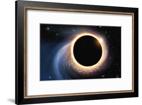 Black Hole - Digital Painting-anatomyofrockthe-Framed Art Print