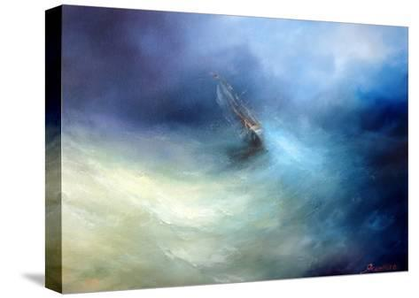 Seascape Storm In The Indian Ocean-yakimenko-Stretched Canvas Print