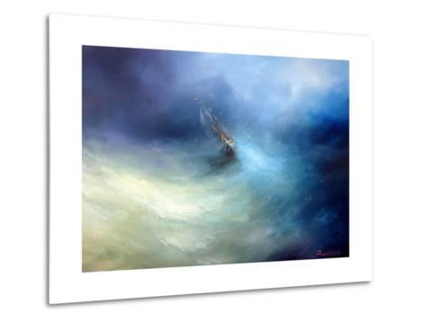 Seascape Storm In The Indian Ocean-yakimenko-Metal Print