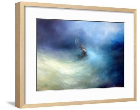 Seascape Storm In The Indian Ocean-yakimenko-Framed Art Print