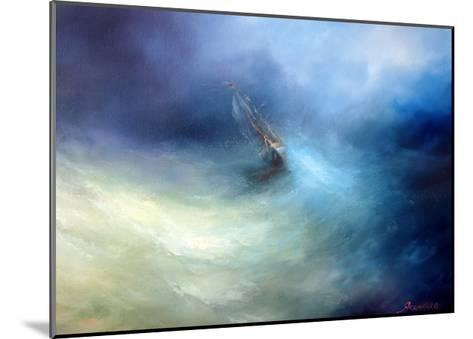 Seascape Storm In The Indian Ocean-yakimenko-Mounted Art Print