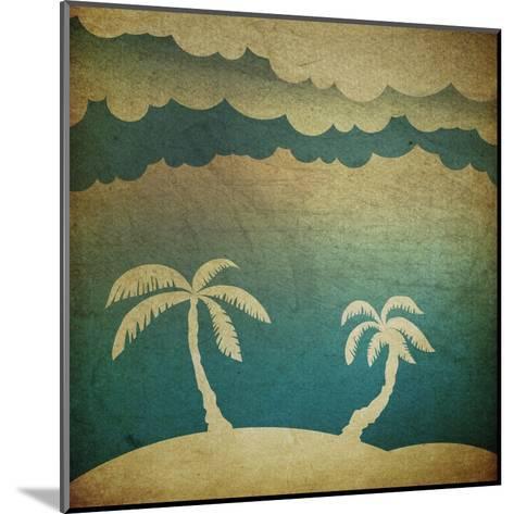 Summer Travel Concept Background-pashabo-Mounted Art Print
