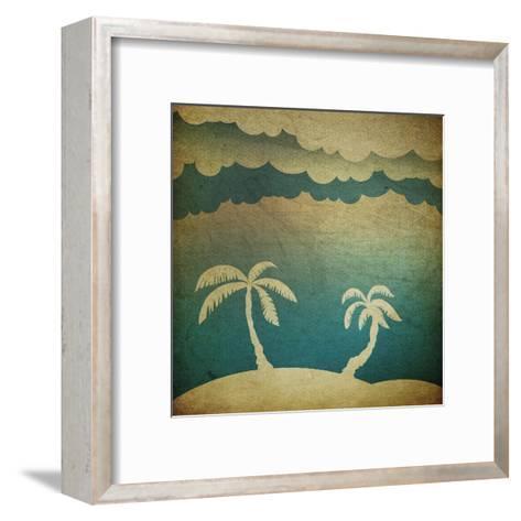 Summer Travel Concept Background-pashabo-Framed Art Print