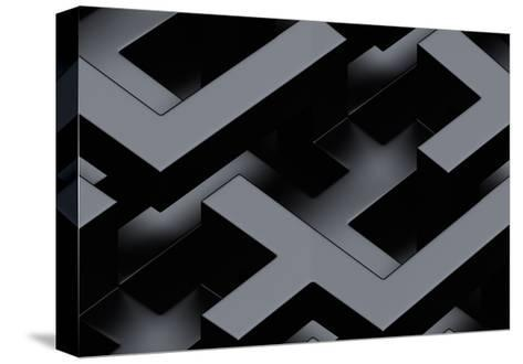 Seamless Metallic 3D Background-monarx3d-Stretched Canvas Print