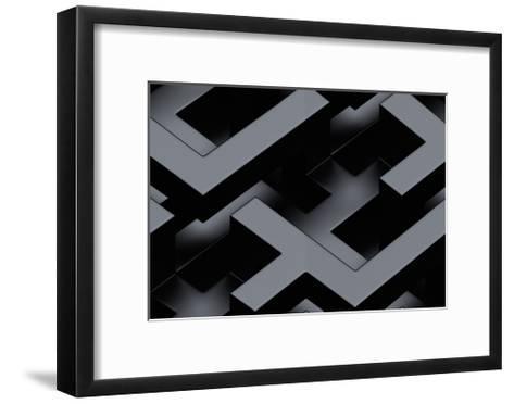 Seamless Metallic 3D Background-monarx3d-Framed Art Print