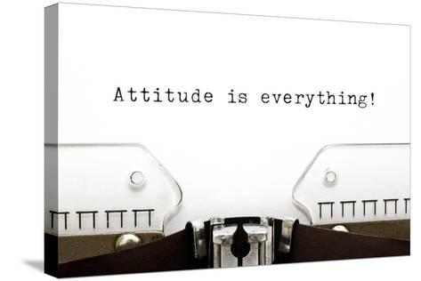 Typewriter Attitude Is Everything-Ivelin Radkov-Stretched Canvas Print