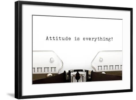Typewriter Attitude Is Everything-Ivelin Radkov-Framed Art Print