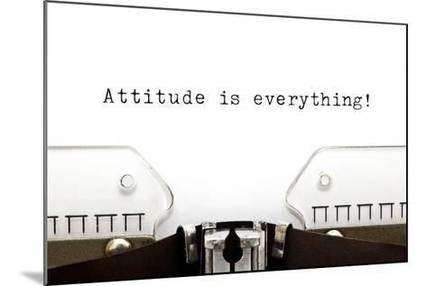 Typewriter Attitude Is Everything-Ivelin Radkov-Mounted Art Print