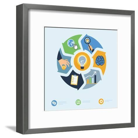 Business Start Up Concept-venimo-Framed Art Print