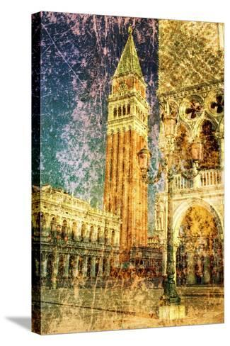 Venice - Great Italian Landmarks-standa_art-Stretched Canvas Print
