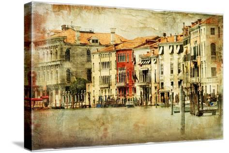 Venice, Artwork In Painting Style-Maugli-l-Stretched Canvas Print