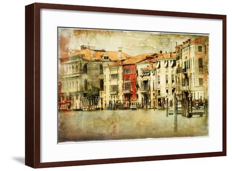 Venice, Artwork In Painting Style-Maugli-l-Framed Art Print