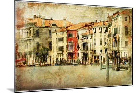 Venice, Artwork In Painting Style-Maugli-l-Mounted Art Print