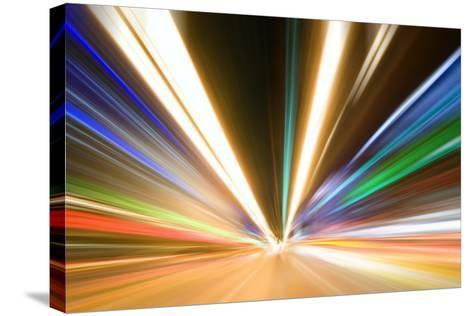 Abstract Colored Light At Night-06photo-Stretched Canvas Print