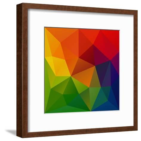 Abstract Geometrical Background-epic44-Framed Art Print