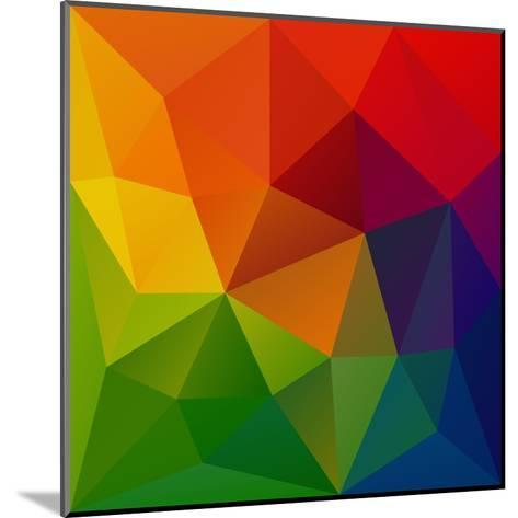 Abstract Geometrical Background-epic44-Mounted Art Print